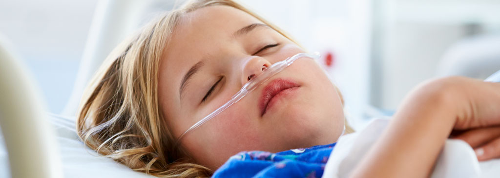 Child with anitbiotic resistant infection