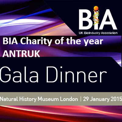 BIA Gala Dinner chief beneficiaries Antibiotic Research UK who proudly are named charity of the year by the Biotech organisation