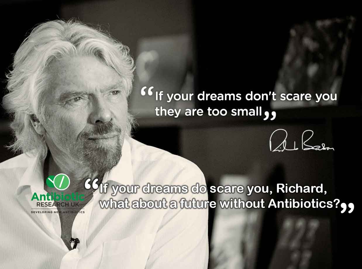 Richard Branson believes that if your dreams dont scare you they are too small. We worry that if the future does scare it is becuase we have not developed any new Antibiotics