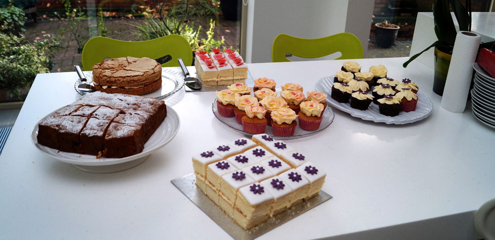 Table of cakes for ANTRUK Great British Tea Party 18 Nov 2015