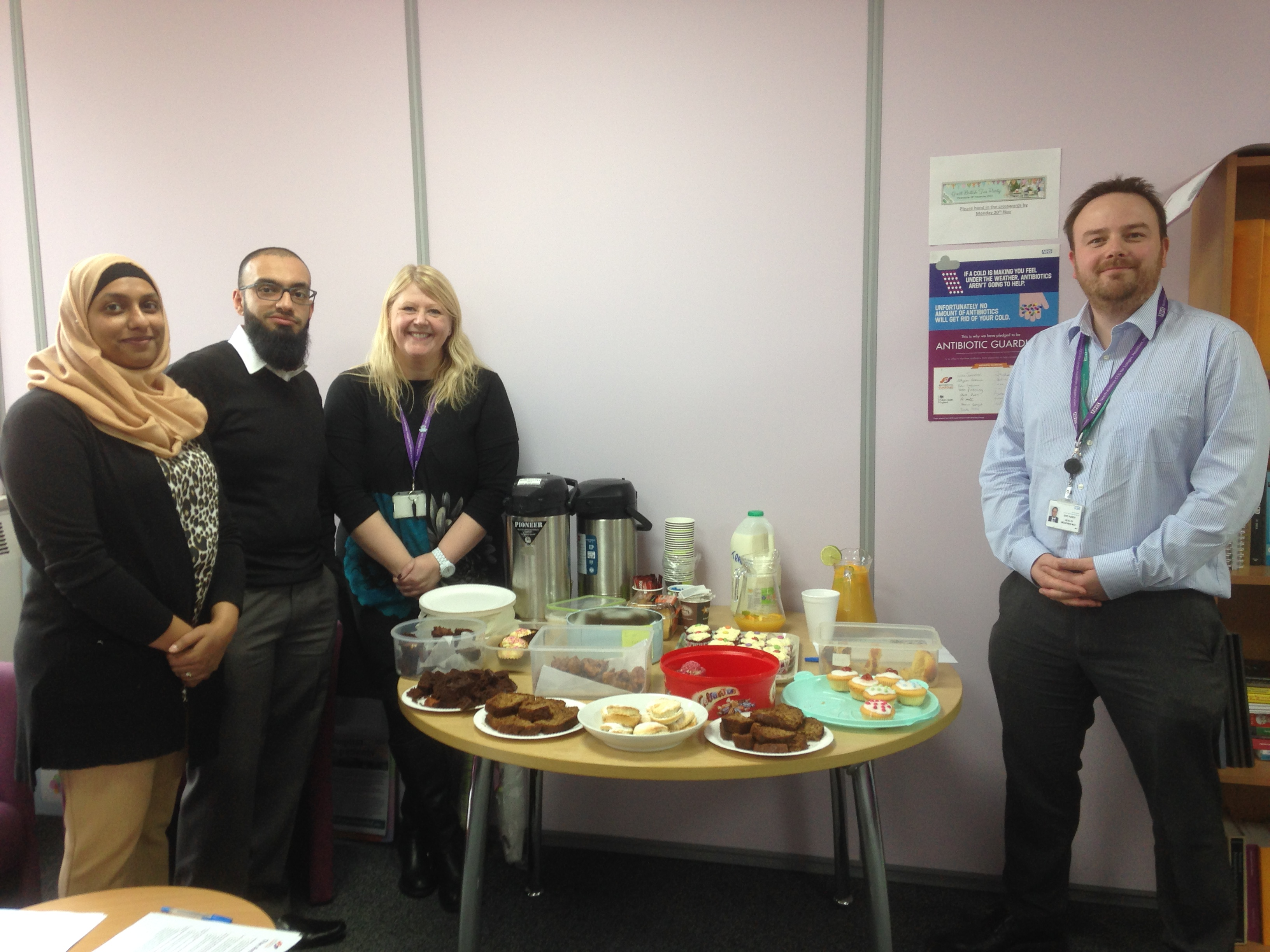 Fatima Gangat and colleagues NHS North Kirklees Clinical Commissioning Groups at their Great British Tea Party