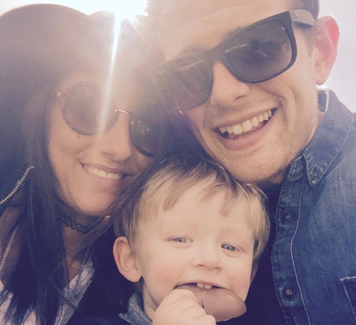 Ben, Emily and their son