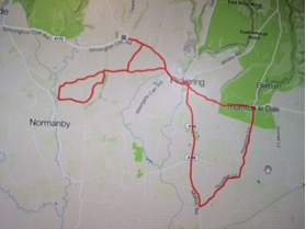 Sarah Glover Cycling Day 1 Map