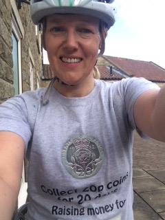 Sarah Glover Cycling Day 1