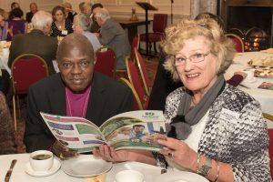 Archbishop of York with ANTRUK volunteer Jenny Hildyard