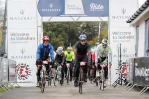 Maserati Tour de Yorkshire Ride cyclists 2017
