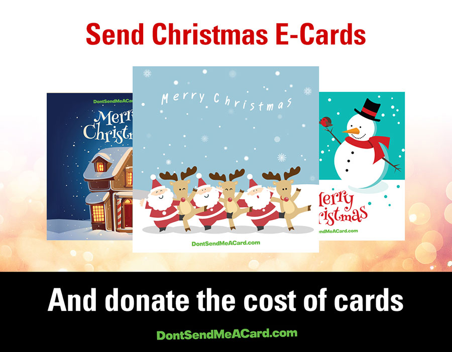 Post To Facebook Share Your ECard And Everyone Will See That You Donated In Lieu Of Sending Christmas Cards