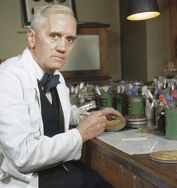 Alexander Fleming, discoverer of penicillin.