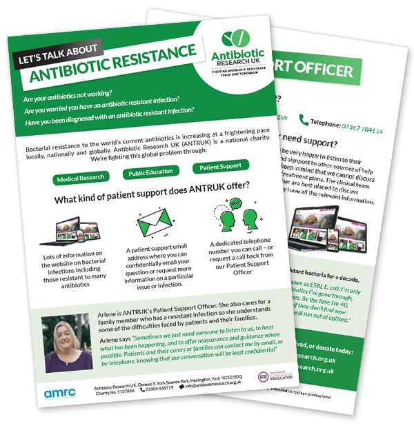 Antibiotic Research UK patient support leaflet