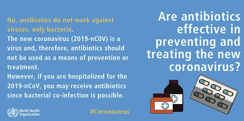 WHO poster explaining the cause of COVID-19 deaths