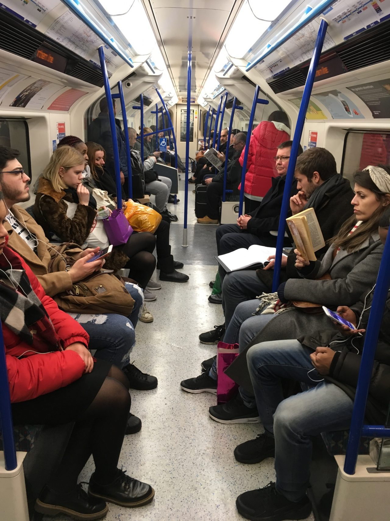people commuting during coronavirus on the tube