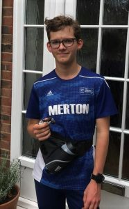 student Hector about to go for a sponsored run