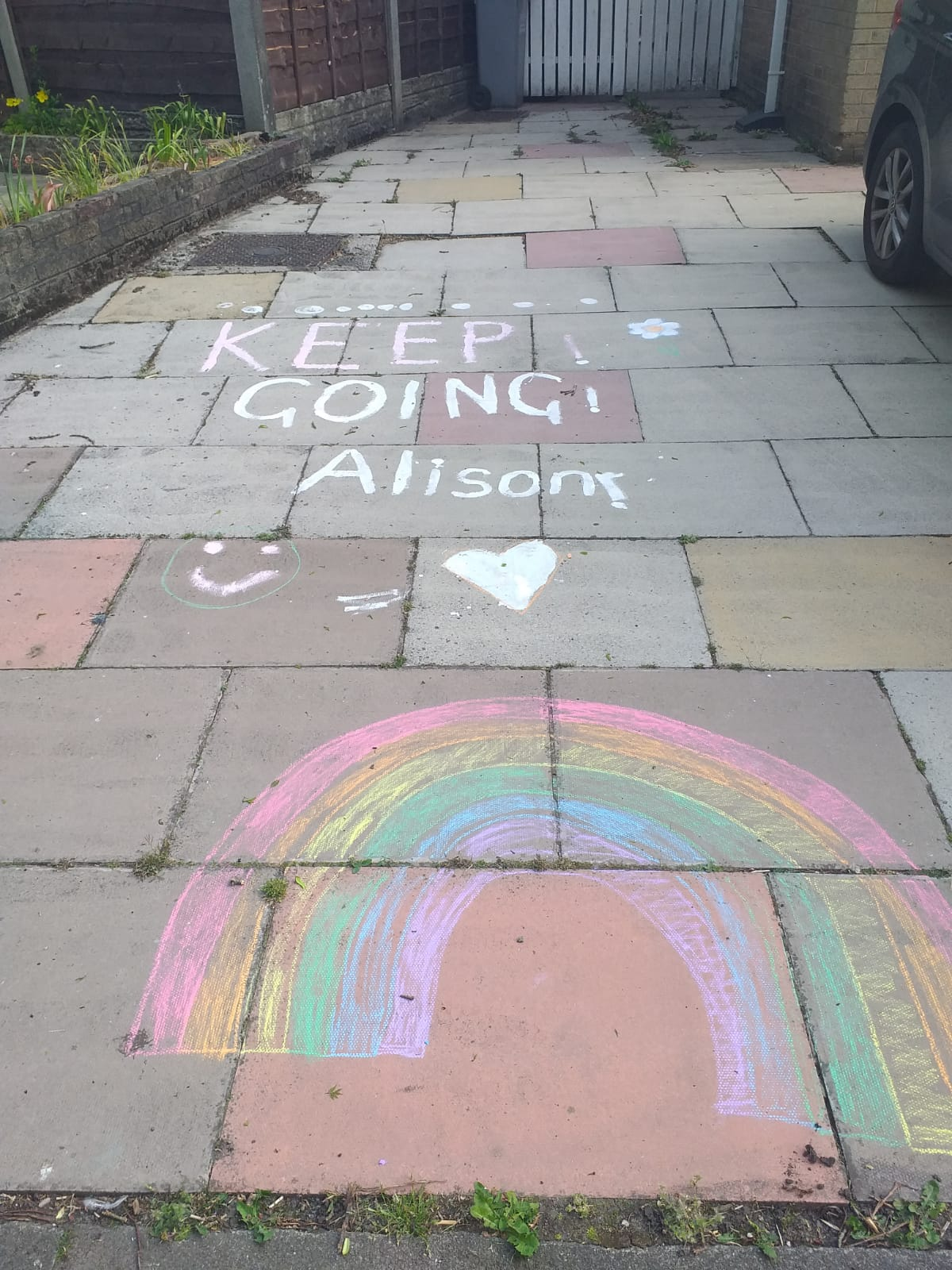 Keep going Alison
